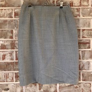 Kasper and Co. Wool Tweed Pencil Skirt Sz 8